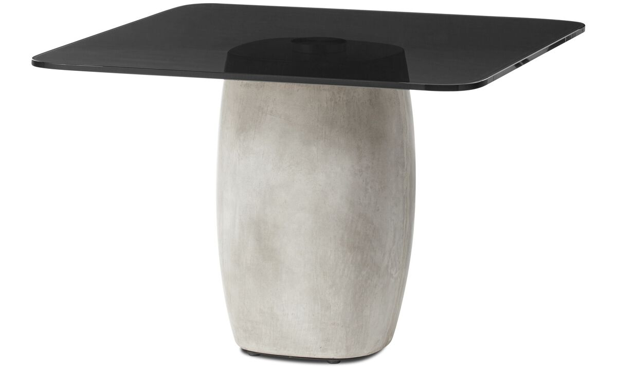 Tables basses - table basse Bilbao - carré - Gris - Verre
