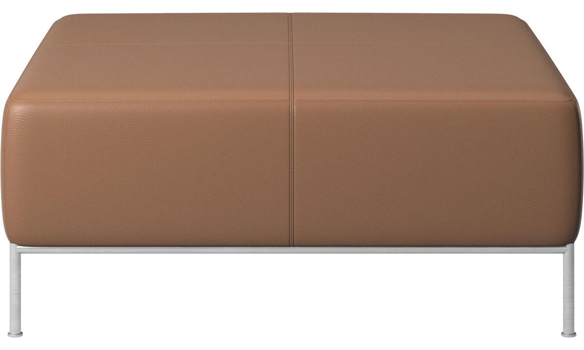 Modulárne sedačky - Miami podnožka - Hnedá - Koža