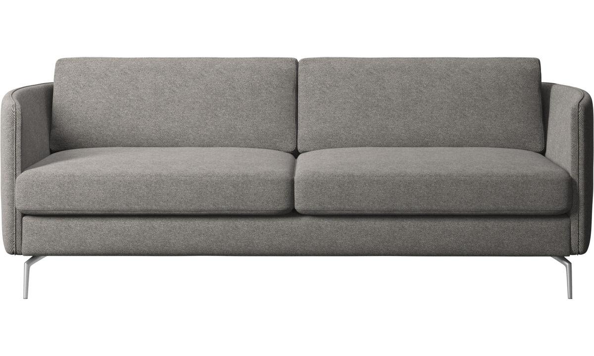 2½ istuttavat sohvat - Osaka-sohva, tavallinen istuin - Harmaa - Kangas