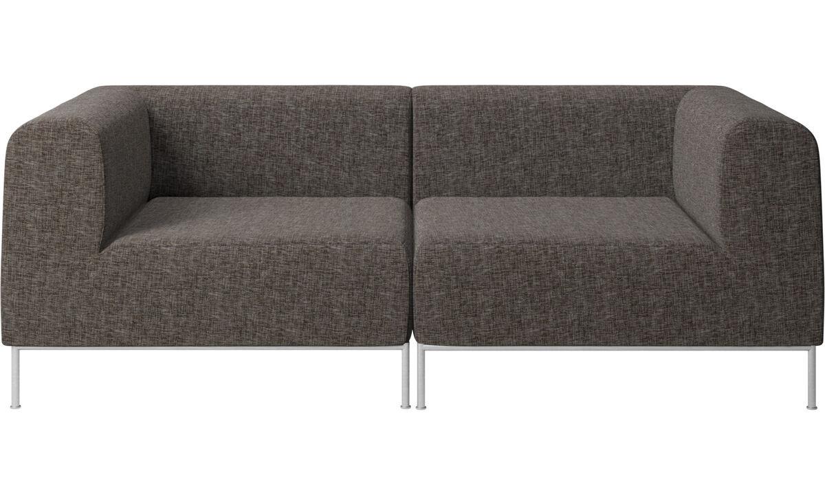 2 seater sofas - Miami sofa - Brown - Fabric