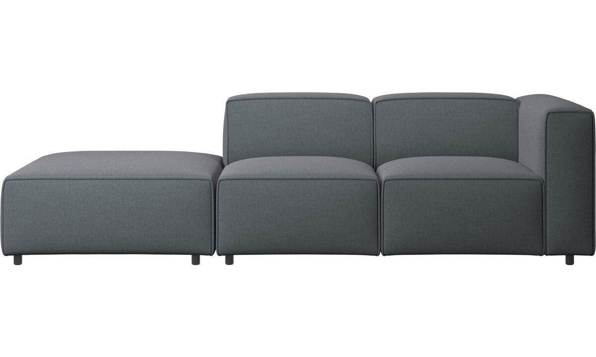 Sofas with open end - Carmo motion sofa - Grey - Fabric