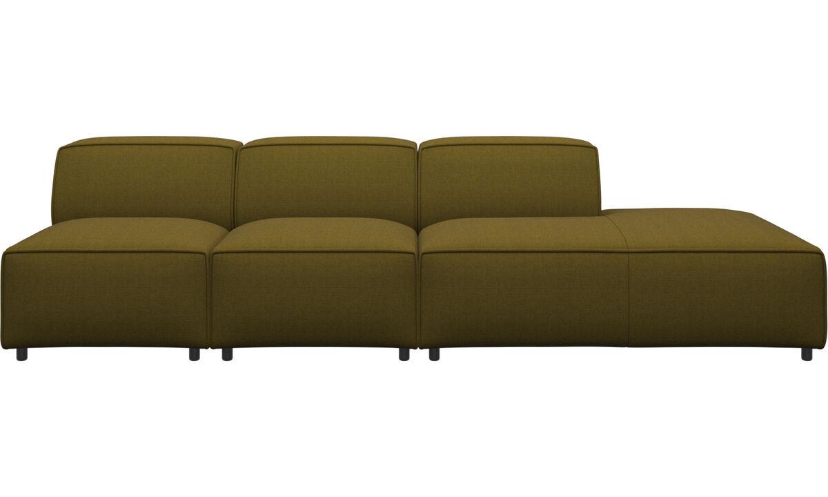 Modulære sofaer - Carmo sofa med loungemodul - Gul - Stof