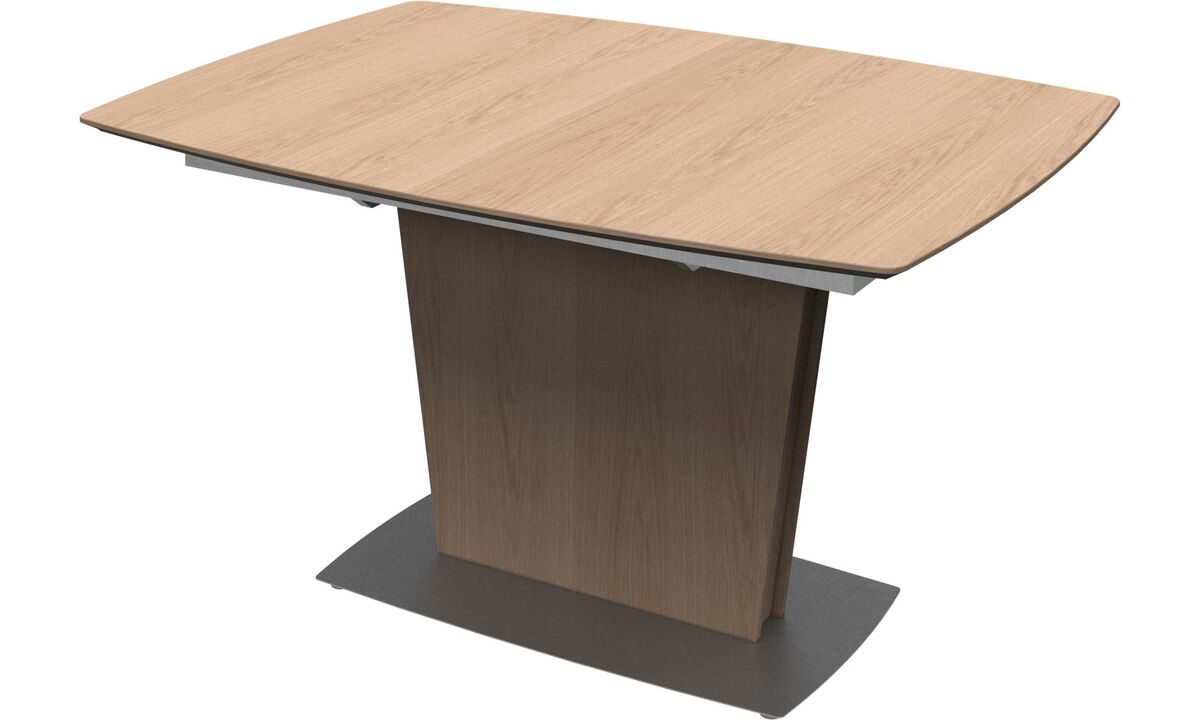 New designs - Milano table with supplementary tabletop - square - Brown - Oak