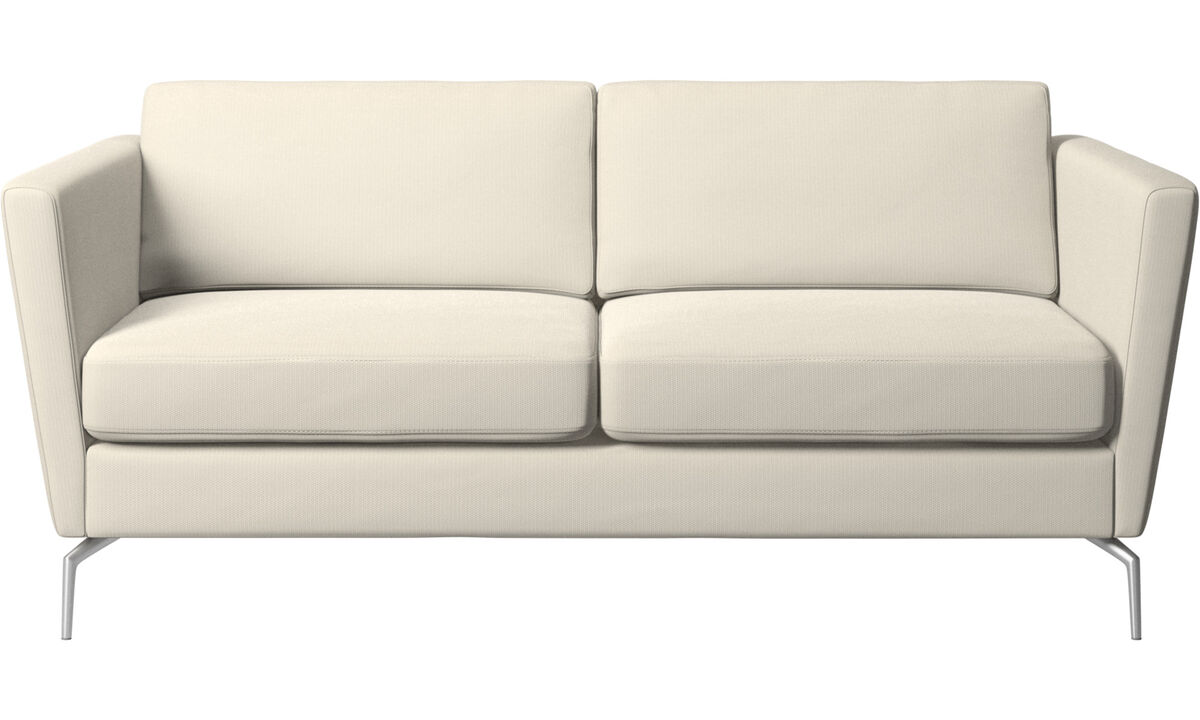 2 seater sofas - Osaka sofa, regular seat - White - Fabric