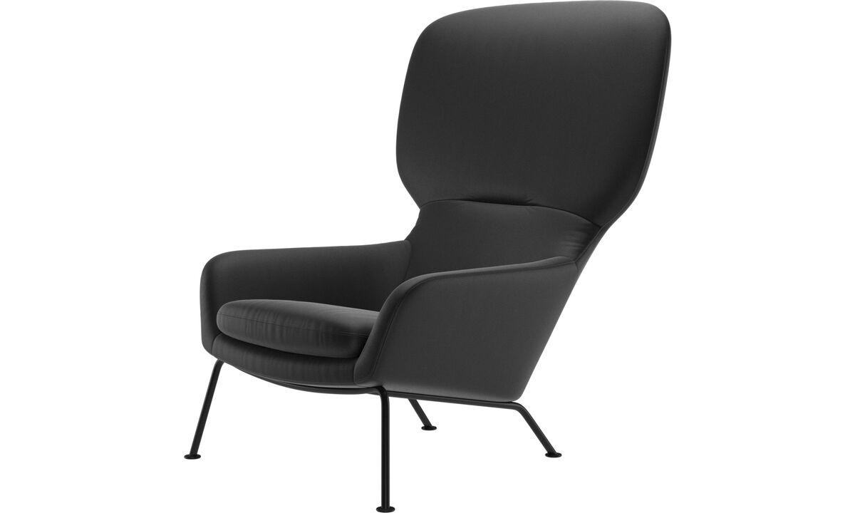 Armchairs - Dublin chair - Black - Leather