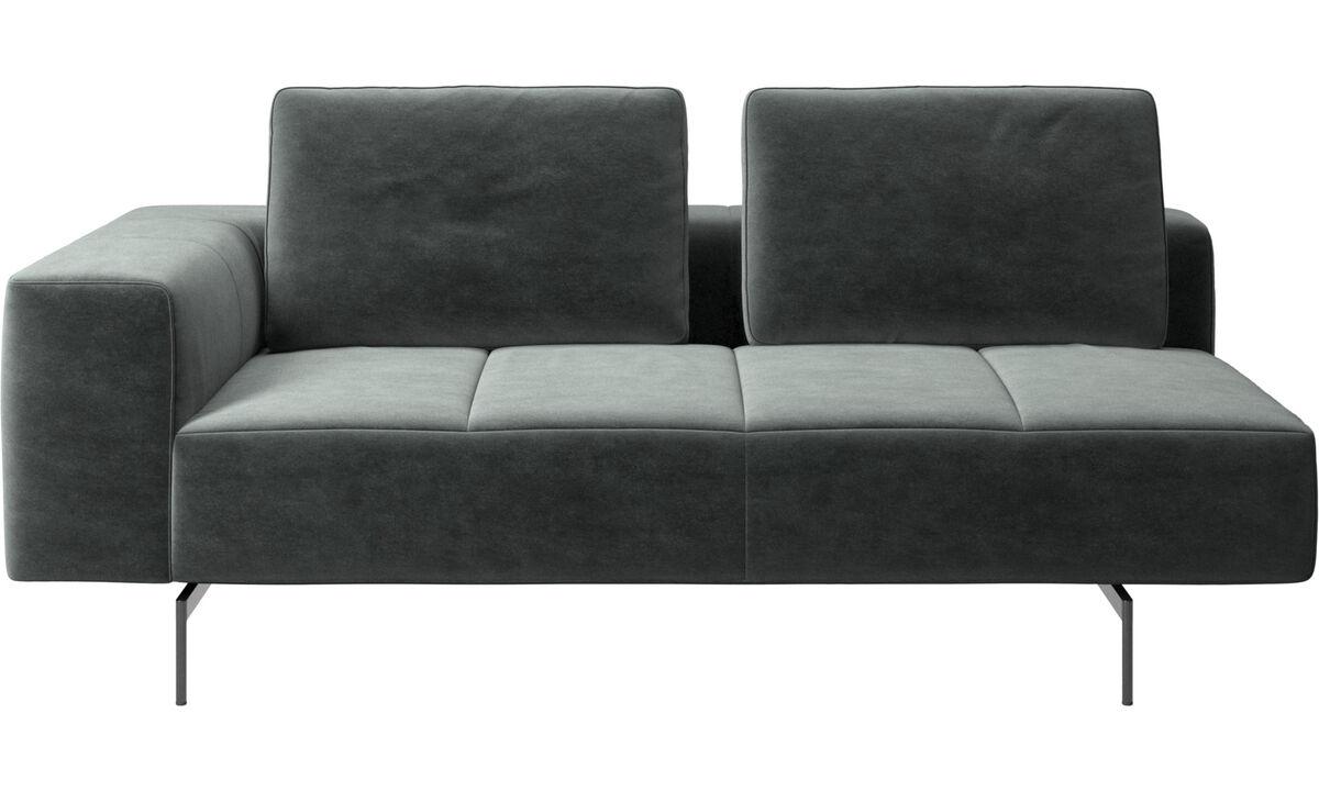 Sofás de 2 lugares e meio - módulo de assento 2,5 Amsterdam, apoio de braço à esquerda - Verde - Tecido