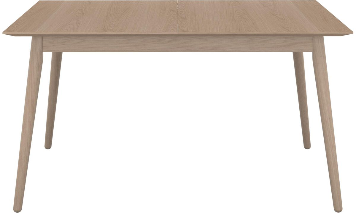 Dining tables - Milano table with supplementary tabletop - rectangular - Brown - Oak