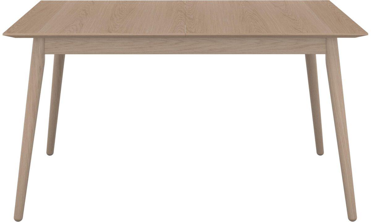 Mesas de jantar - mesa Milano com tampo suplementar - rectangular - Castanho - Carvalho