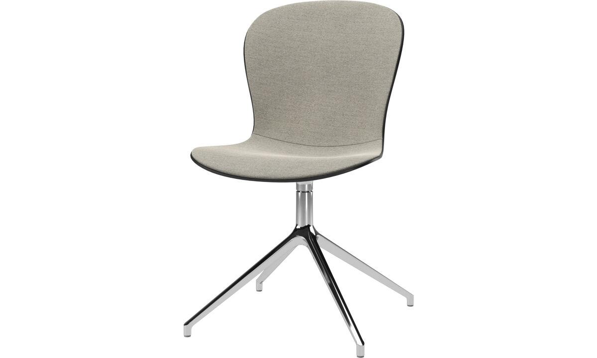Sillas de comedor - silla Adelaide con función giratoria - En beige - Tela