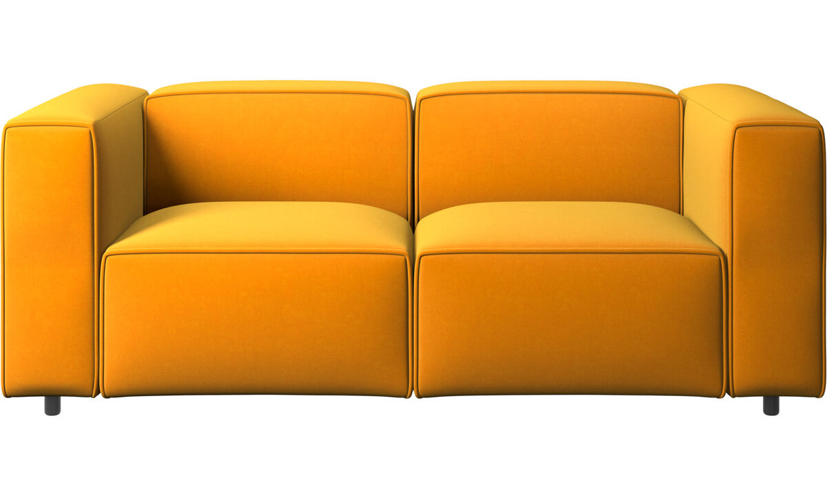 Sofás de 2 plazas - sofá Carmo - Naranja - Tela