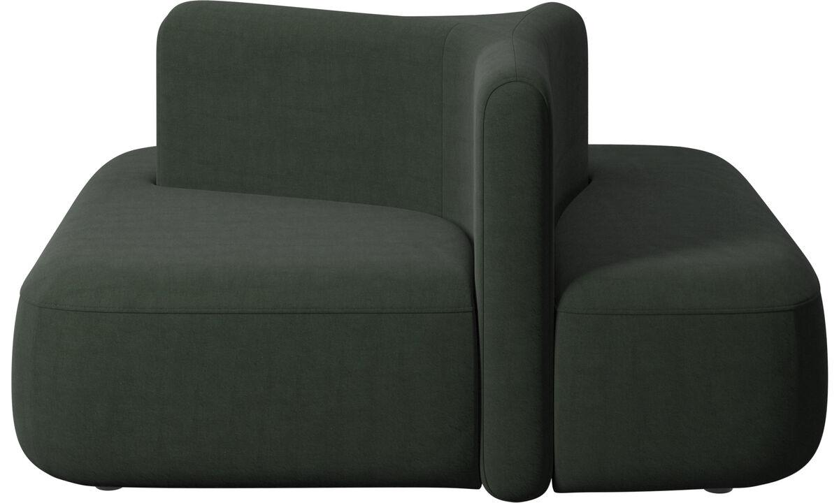 Modular sofas - Ottawa square low back - Green - Fabric