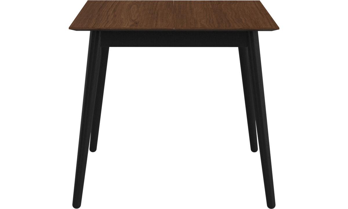 Mesas de comedor - Mesa extensible con tablero suplementario Milano - cuadrado - En marrón - Nogal