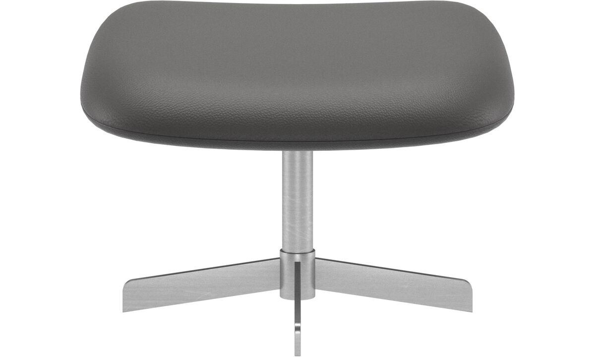 Footstools - Athena footstool - Grey - Leather