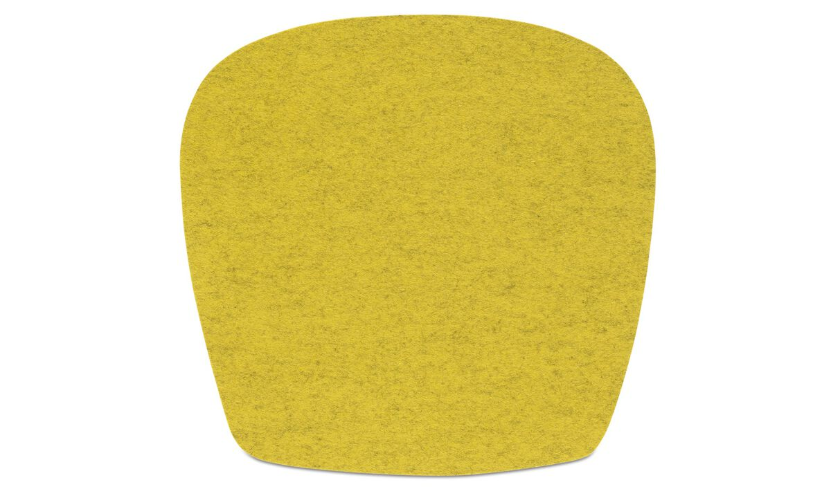 Dining chairs - Morgan seat cushion - Yellow - Fabric