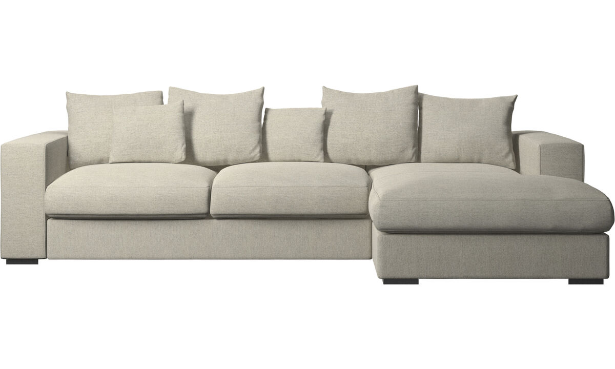 Chaise lounge sofas - Cenova sofa with resting unit - Beige - Fabric
