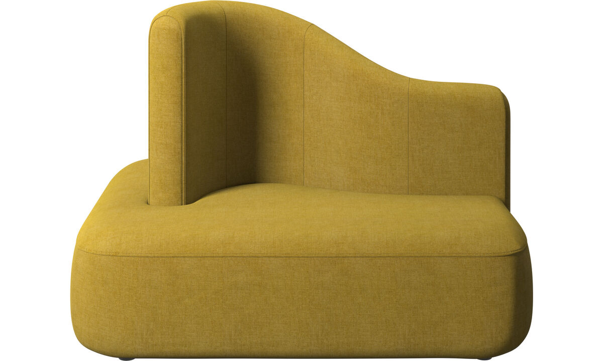 Modular sofas - Ottawa square high back - Yellow - Fabric