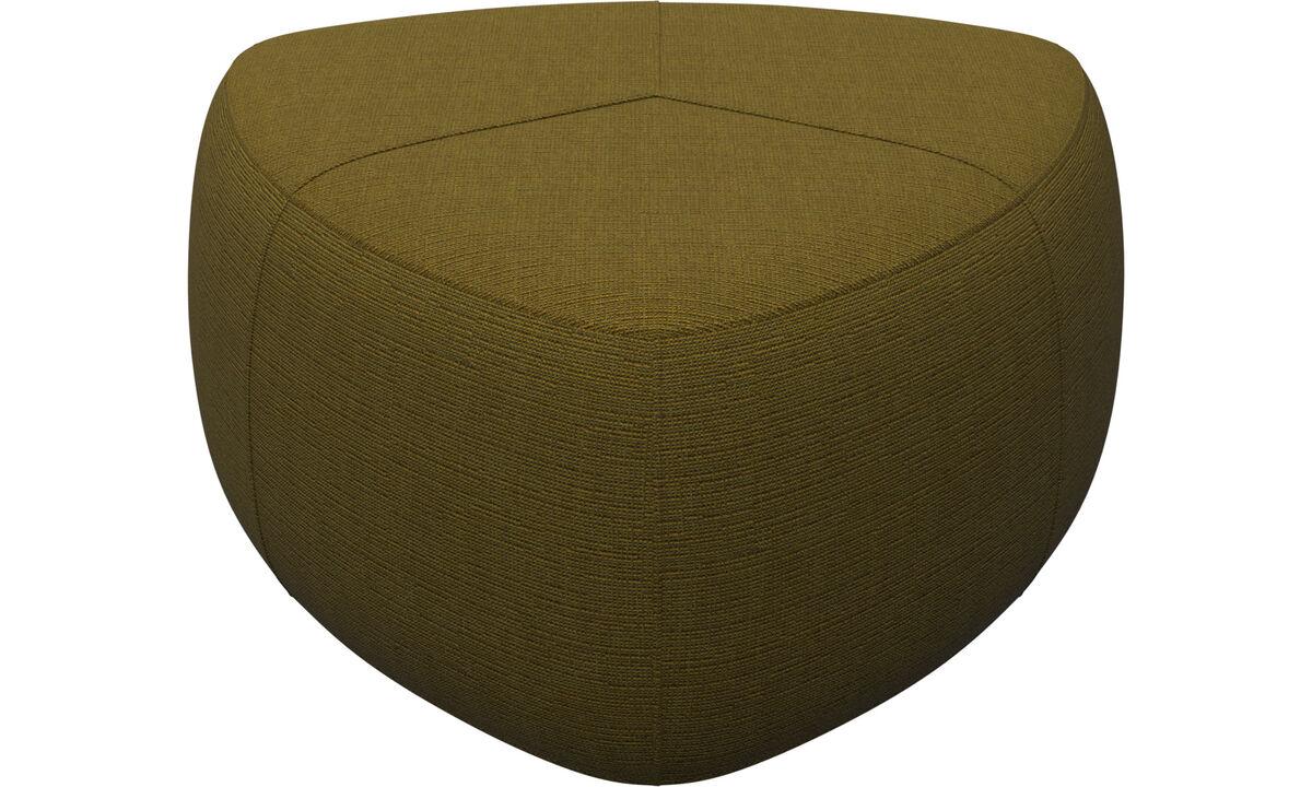Footstools - Bermuda footstool - Yellow - Fabric