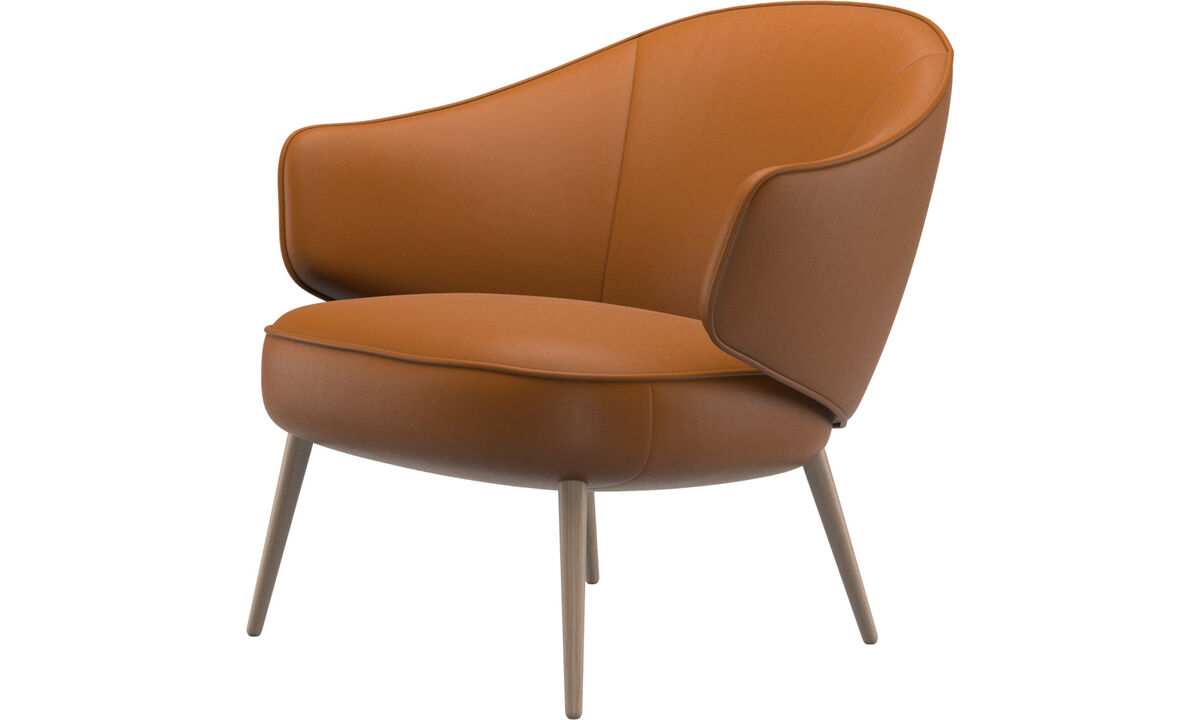 Armchairs - Charlotte chair - Brown - Leather