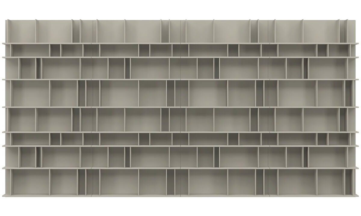 Wall systems - Como wall system - Grey - Lacquered