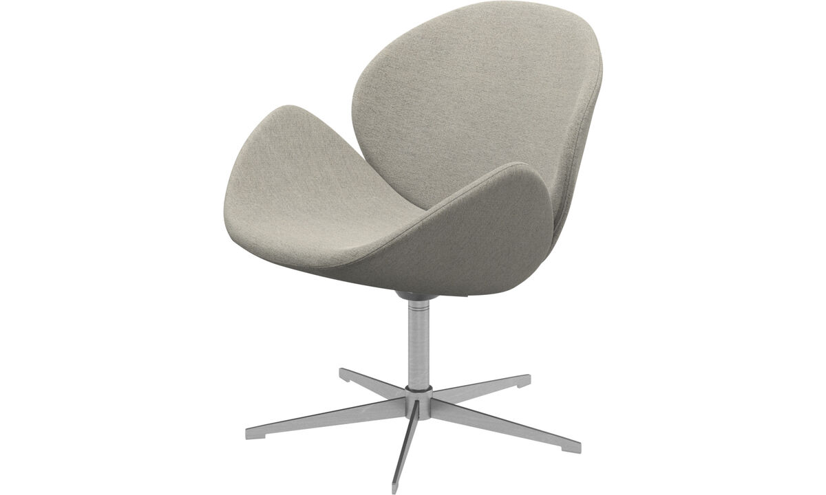 Armchairs - Ogi chair with swivel function - Beige - Fabric