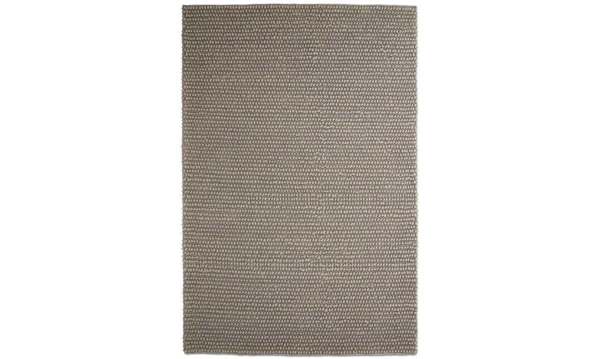 Rectangular rugs - Nordic rug - rectangular - Grey - Wool