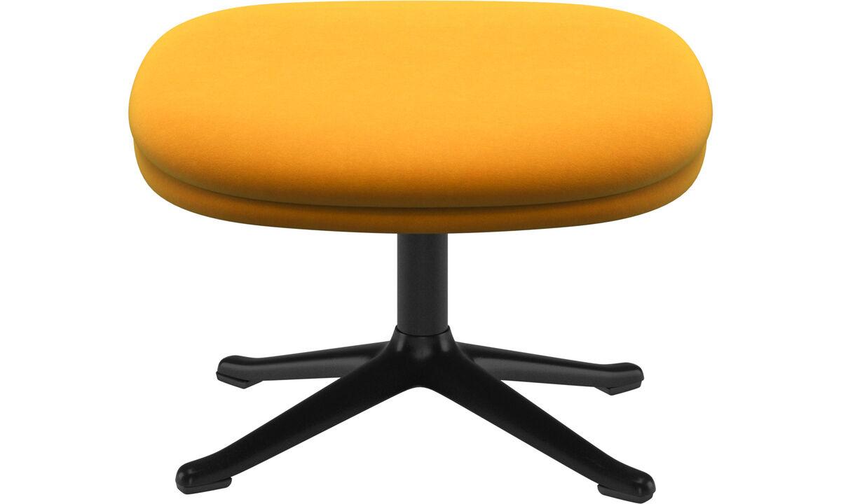 Footstools - Adelaide footstool - Orange - Fabric