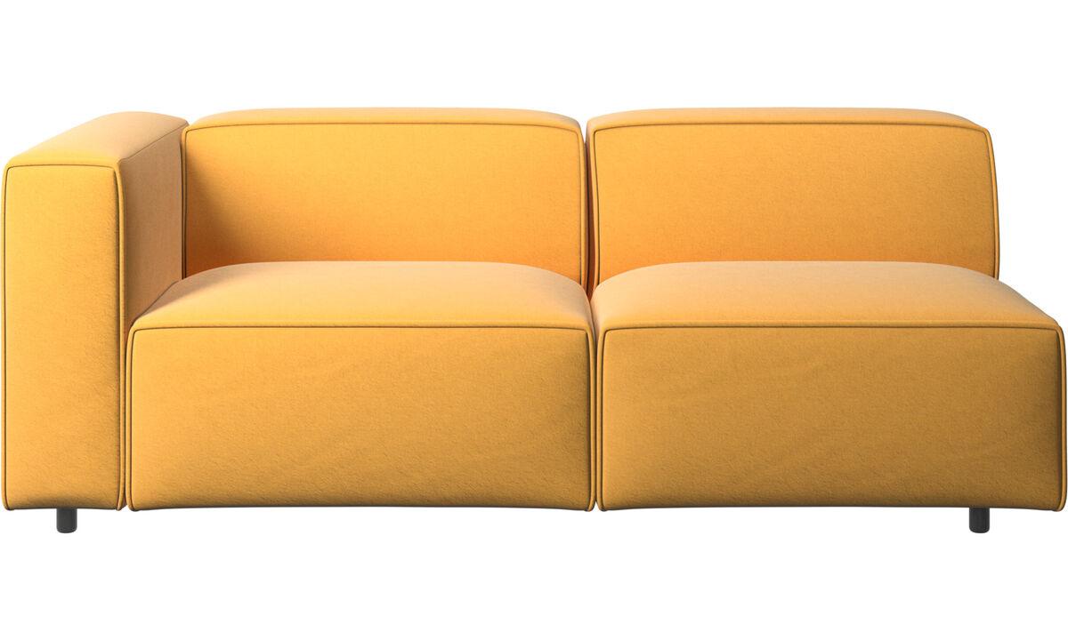 2½-sitzer Sofas - Carmo Sofa - Gelb - Stoff