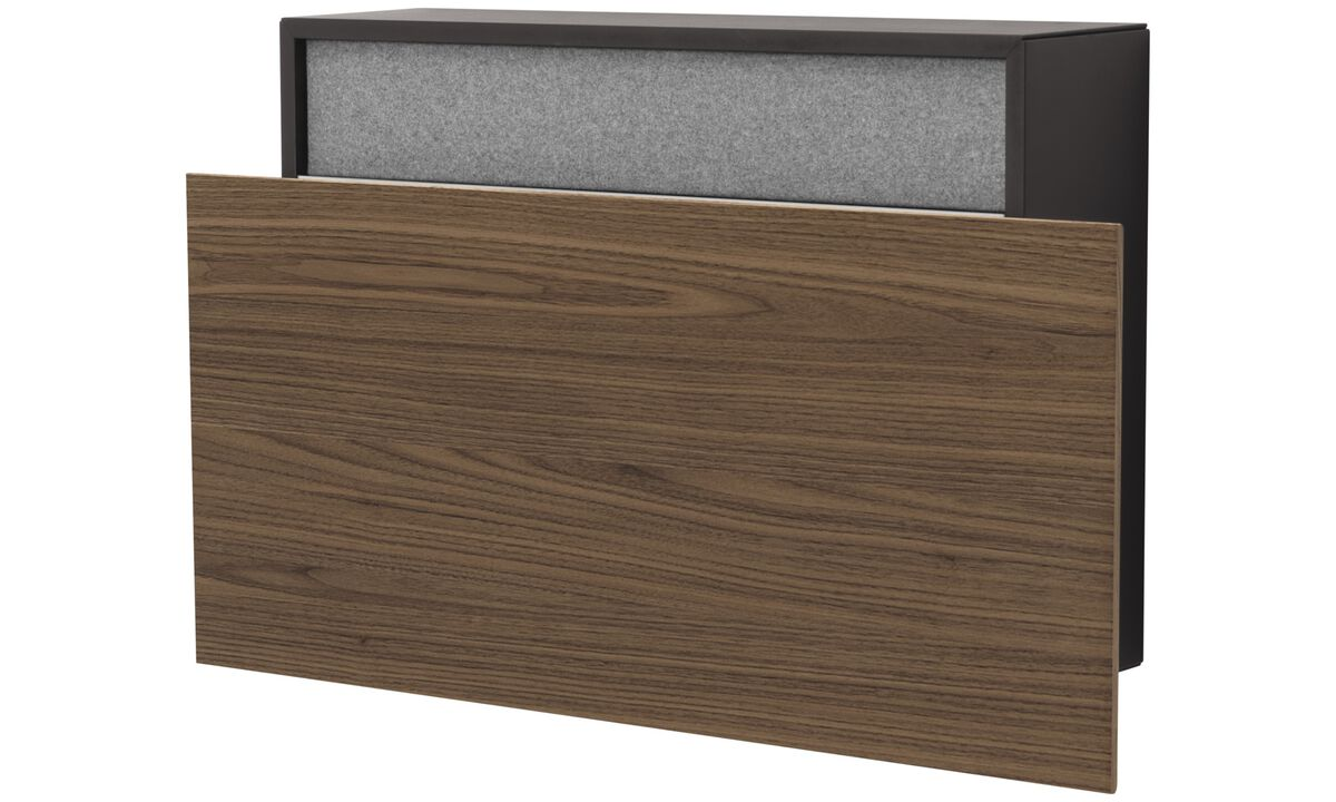 Desks - Cupertino wall office - quadrata - Nero - Rovere