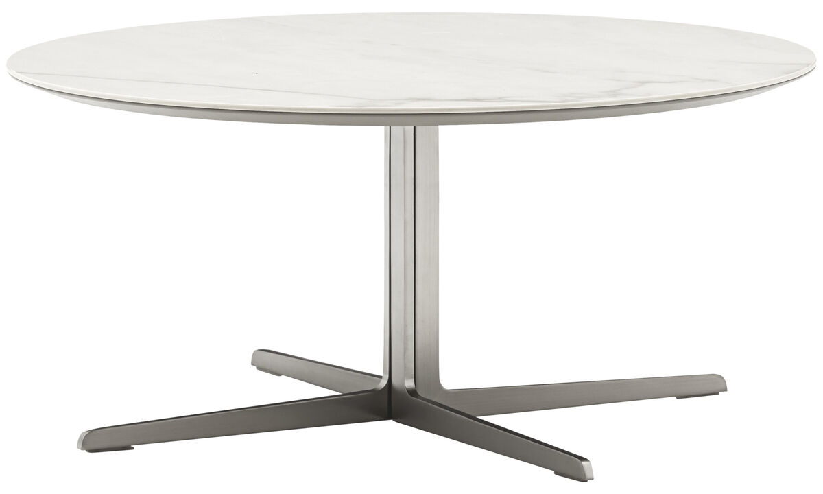Coffee tables - Sevilla coffee table - round - White - Ceramic