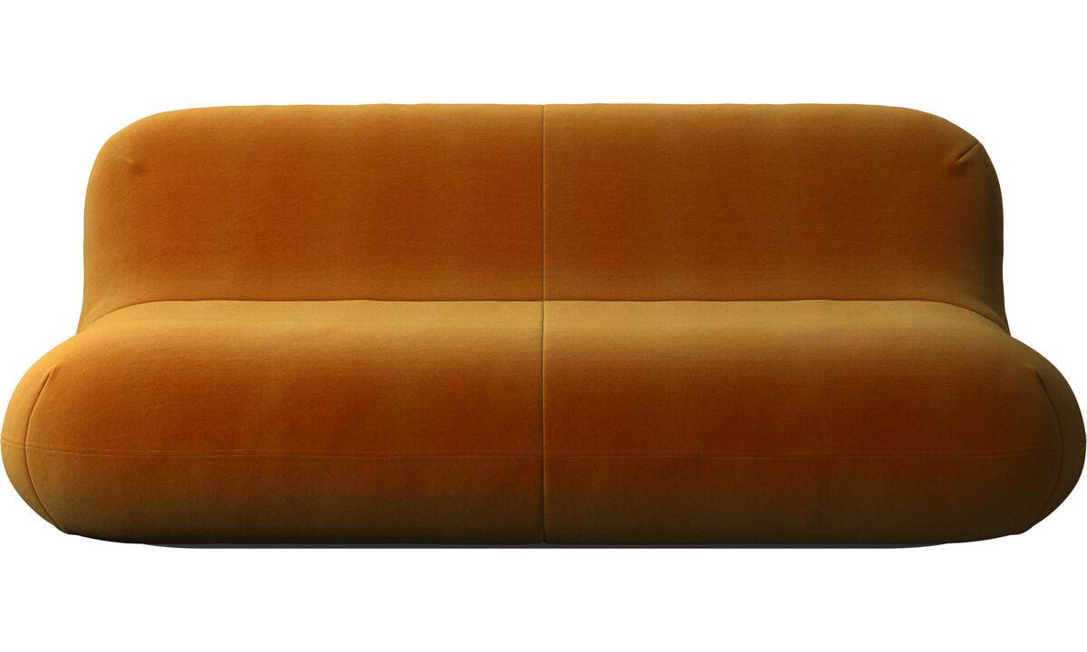 Sofás de 2 lugares e meio - sofa Chelsea - Amarelo - Tecido