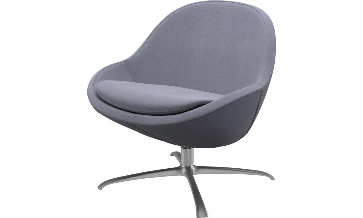 Fauteuils - Veneto  fauteuil met draaivoet - Blauw - Stof