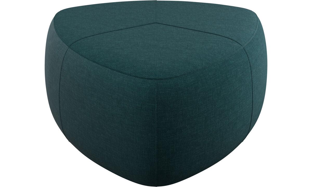 Footstools - Bermuda footstool - Blue - Fabric
