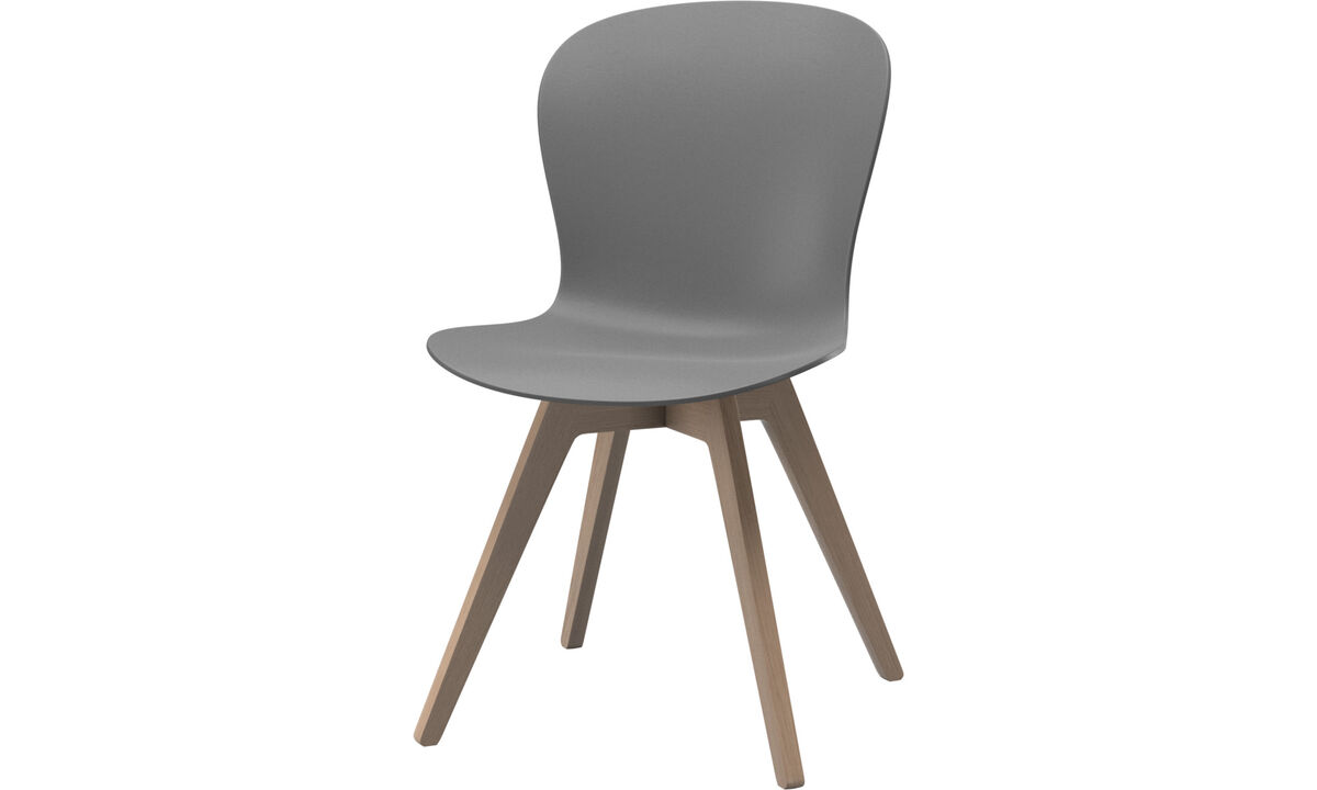Dining chairs - Adelaide chair - Gray - Oak