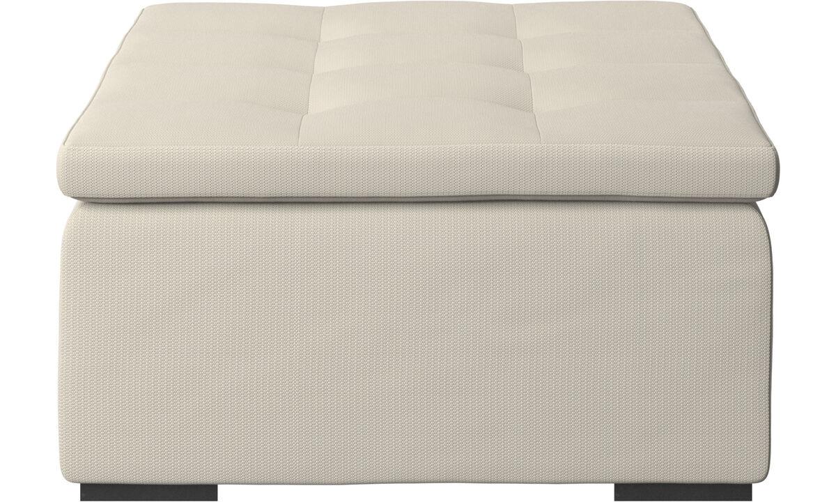 Footstools - Mezzo ottoman - White - Fabric
