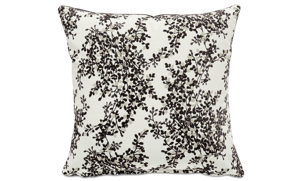 Cushions - Japanese leaf cushion - White - Fabric