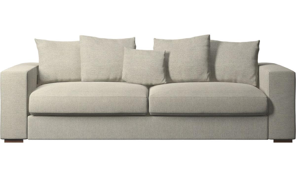 Sofás de 3 plazas - sofá Cenova - En beige - Tela