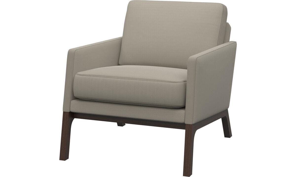 Fauteuils - fauteuil Monte - Blanc - Tissu