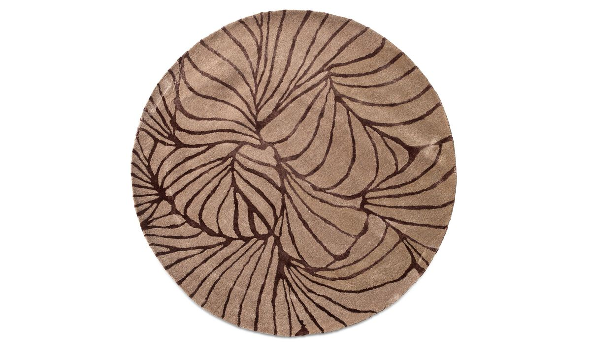 Round rugs - Ankara rug - round - Red - Fabric