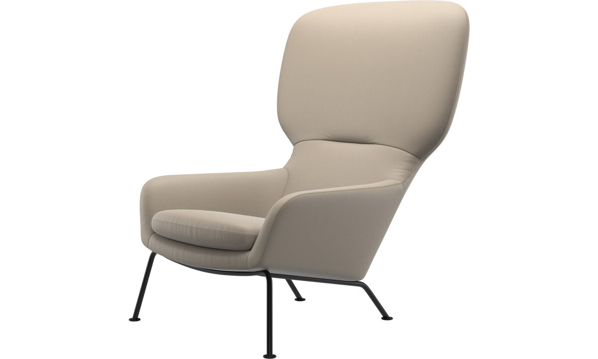 Armchairs - Dublin chair - Beige - Leather