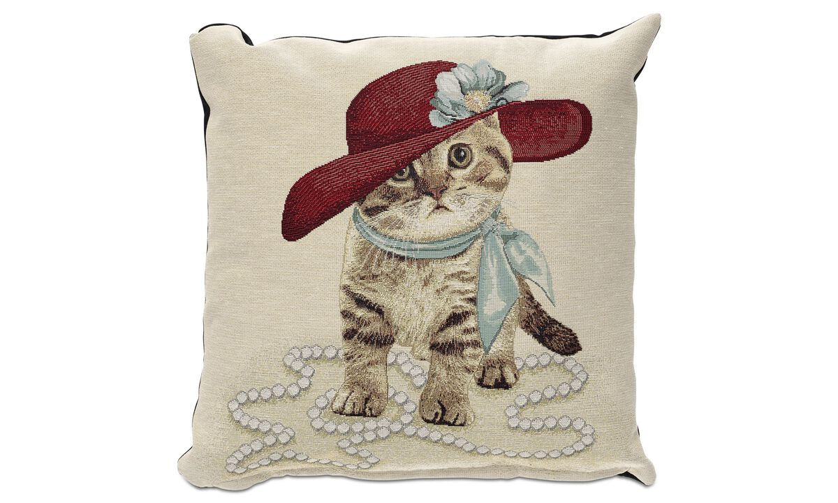 Cushions - Flower kitten cushion - Fabric
