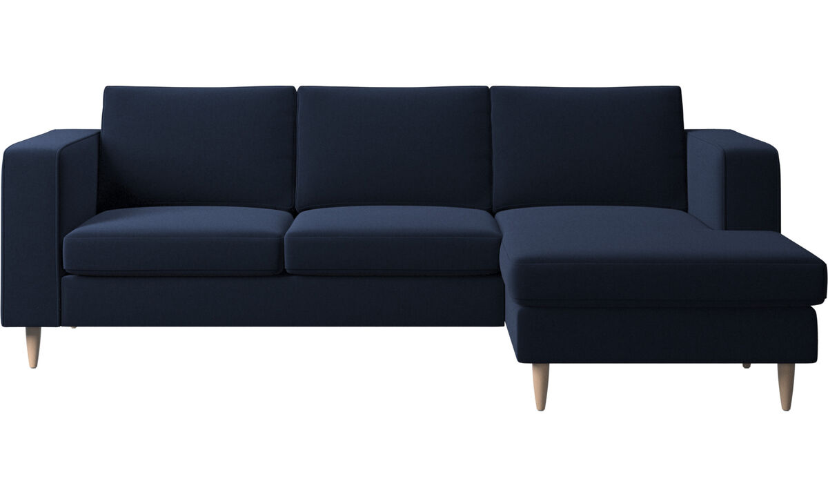 Chaise lounge sofas - Indivi 2 sofa with resting unit - Blue - Fabric