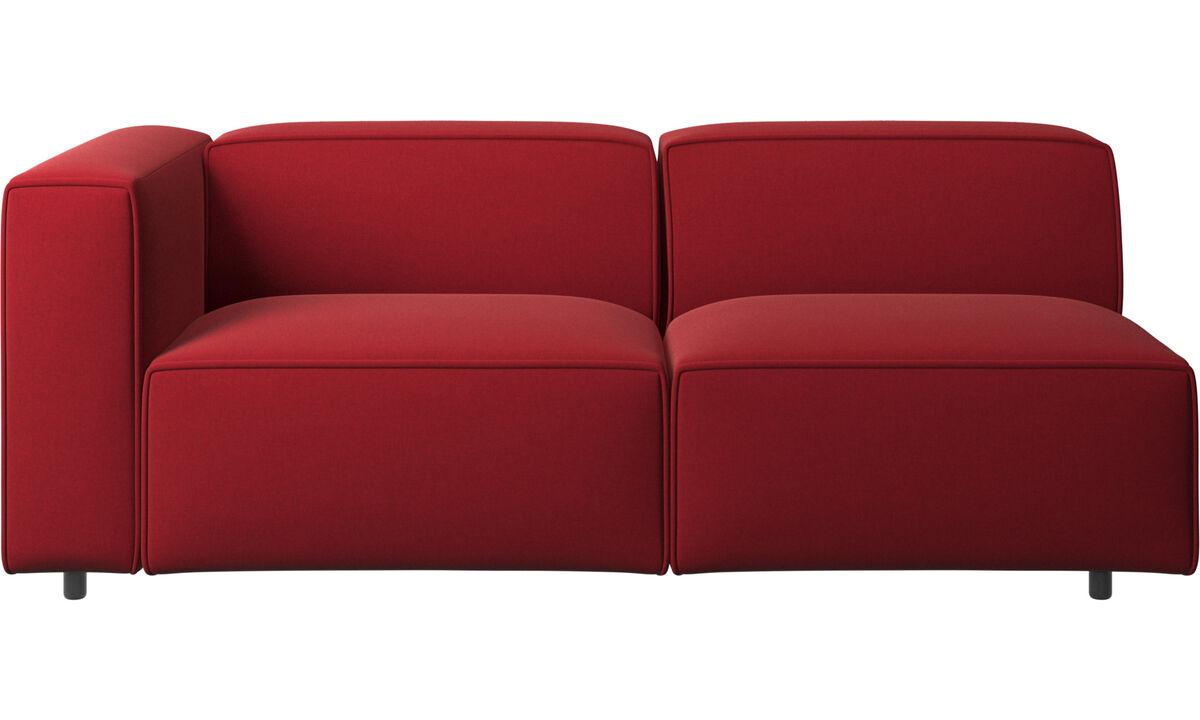Sofás de 2 plazas y media - Sofá Carmo - Rojo - Tela