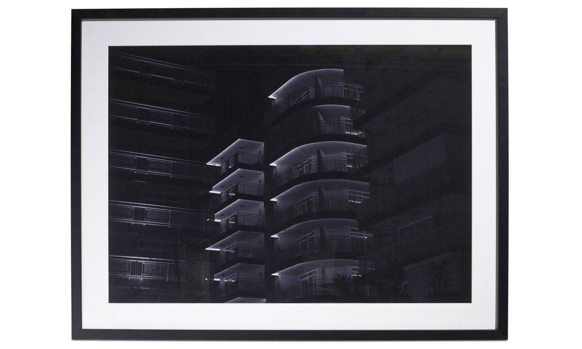 Galerie - Photo d'art 'City of light 1' - Noir - Wood