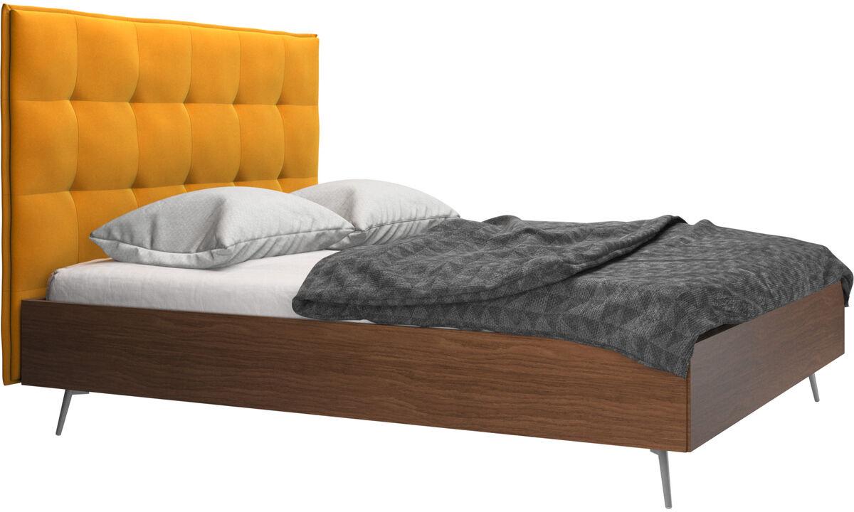 Camas - cama Lugano, no incluye colchón - Naranja - Tela