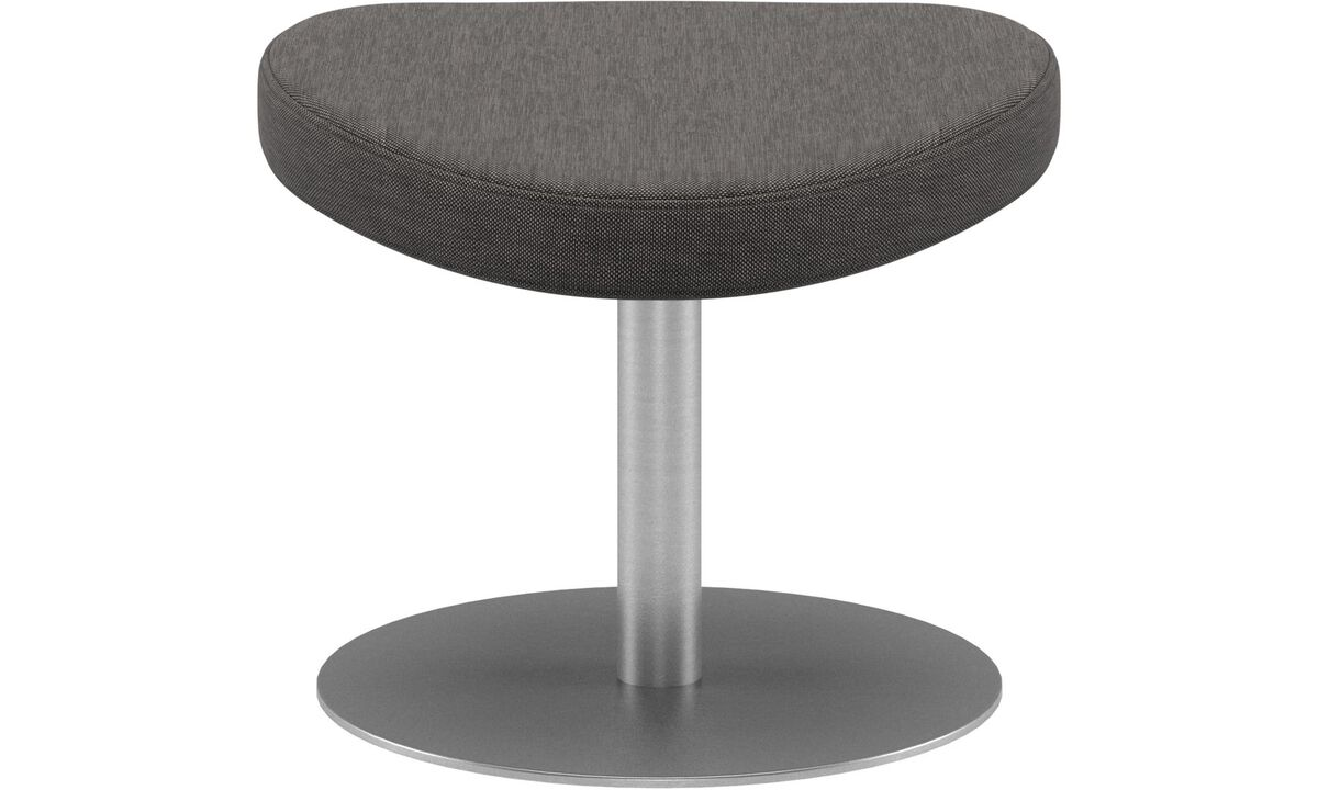 Footstools - Schelly footstool - Grey - Fabric