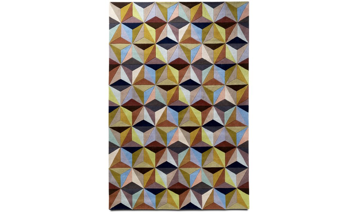 Rugs - Cubic rug - rectangular - Mixed colours - Fabric
