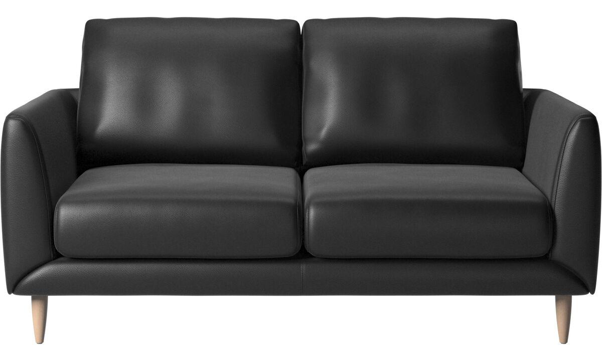 2 seater sofas - Fargo divano - Nero - Pelle