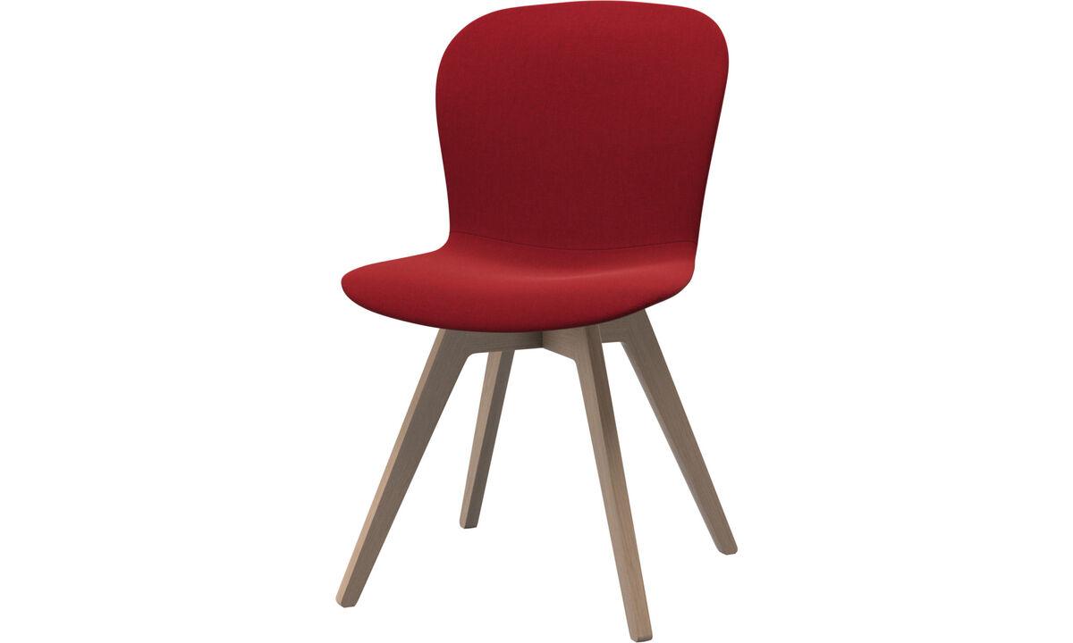 Spisestole - Adelaide stol - Rød - Stof