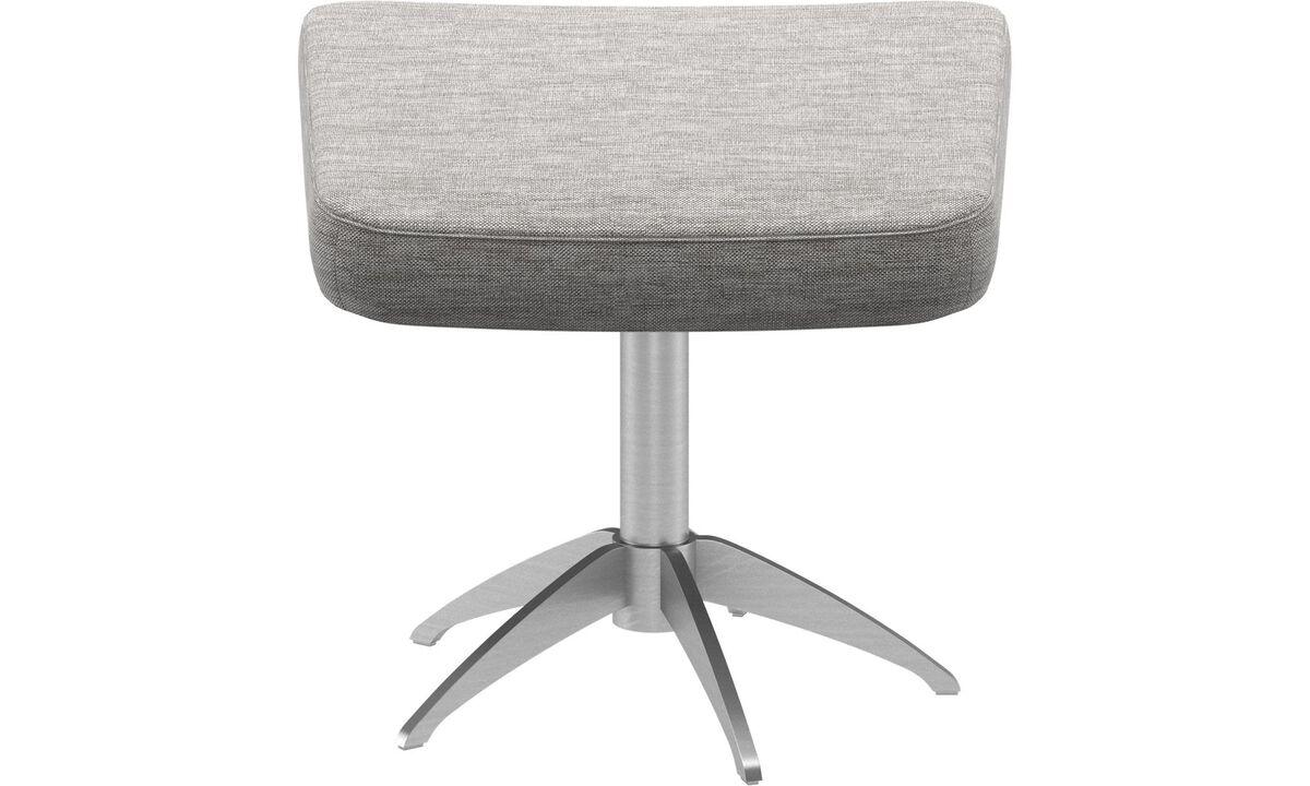 Ottomans - Harvard footstool - Gray - Fabric