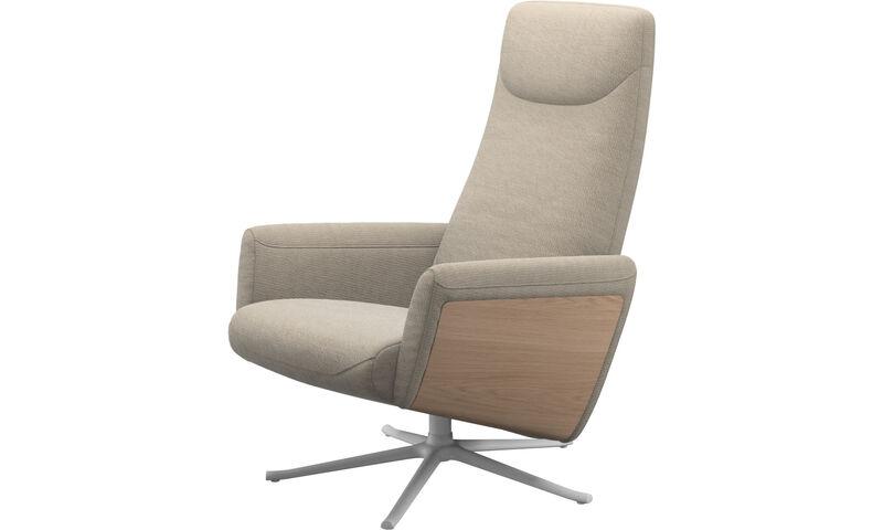 fdd3ac2ff7fe Fauteuils - fauteuil inclinable Lucca avec fonction pivotante - Beige -  Tissu ...